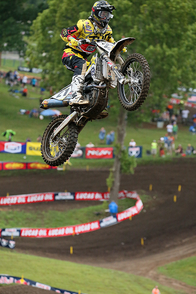 Jason Anderson continues to show that he has speed outdoors. He was the fastest qualifier in the 450 class.