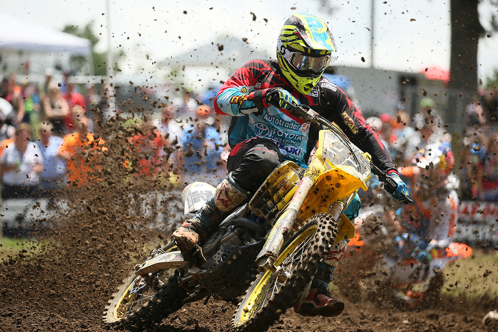 Weston Peick made some waves at Muddy Creek, with a solid pair of fourth-place moto finishes.