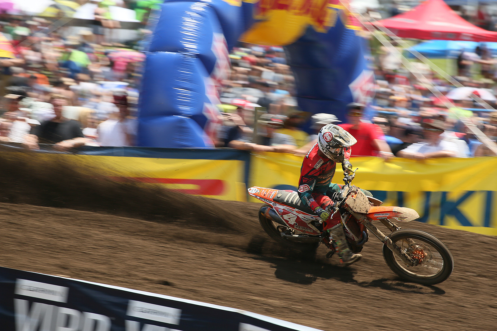 The 450 points leader, Blake Baggett, was a bit off the pace in moto one, and finished third.