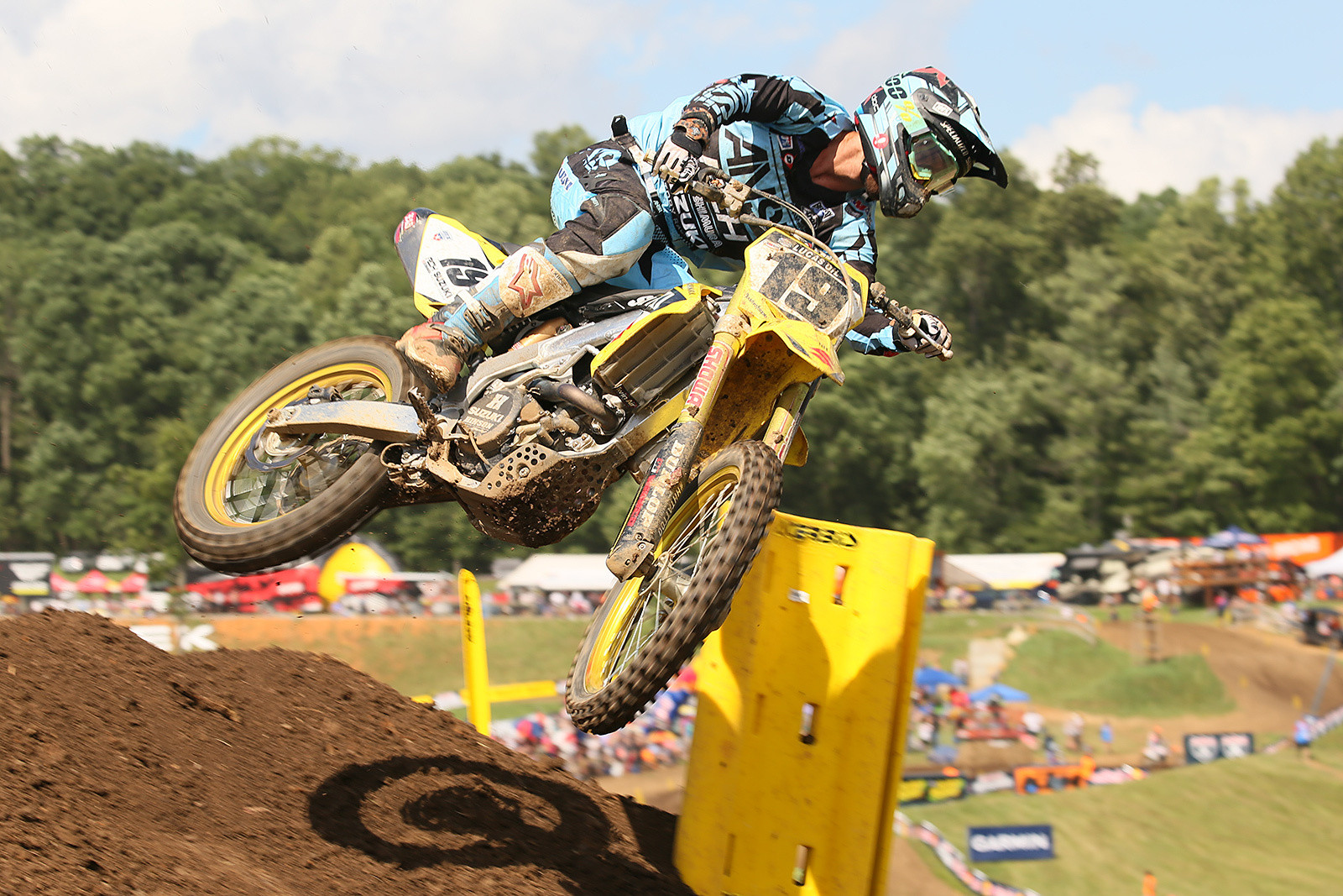 Justin Bogle finished fifth in moto two, and was seventh on the day.