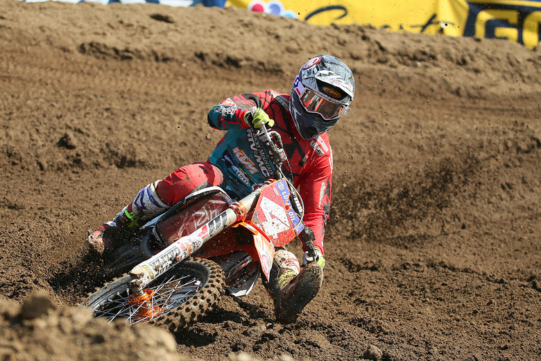 Blake Baggett was the fastest qualifier in the 450 class.