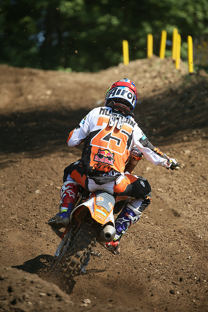 Marvin Musquin was looking much better this weekend than he did at Muddy Creek. A pair of thirds netted him second overall.