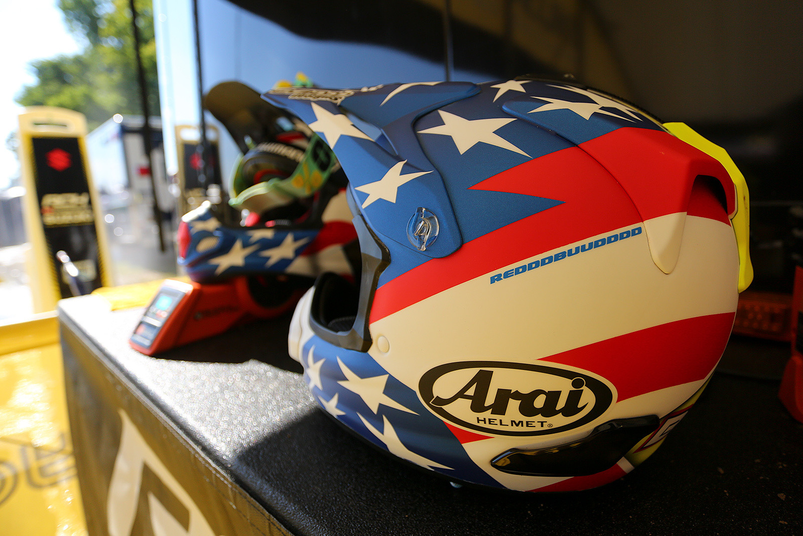 Let's dig into some of what makes RedBud the annual Woodstock of Motocross that it is. First up, how about the custom helmets that Beam Designs did for Broc Tickle and Justin Bogle? RedddBuuddddd!