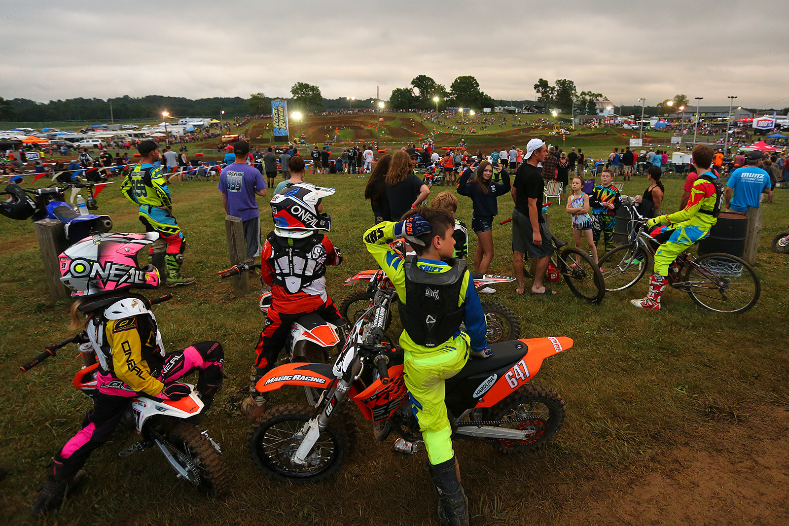 The night track is a lot more condensed than the main track, and jump-filled. We doubt there are any fans who come to the weekend who leave feeling like they didn't get to watch all the moto they could handle.