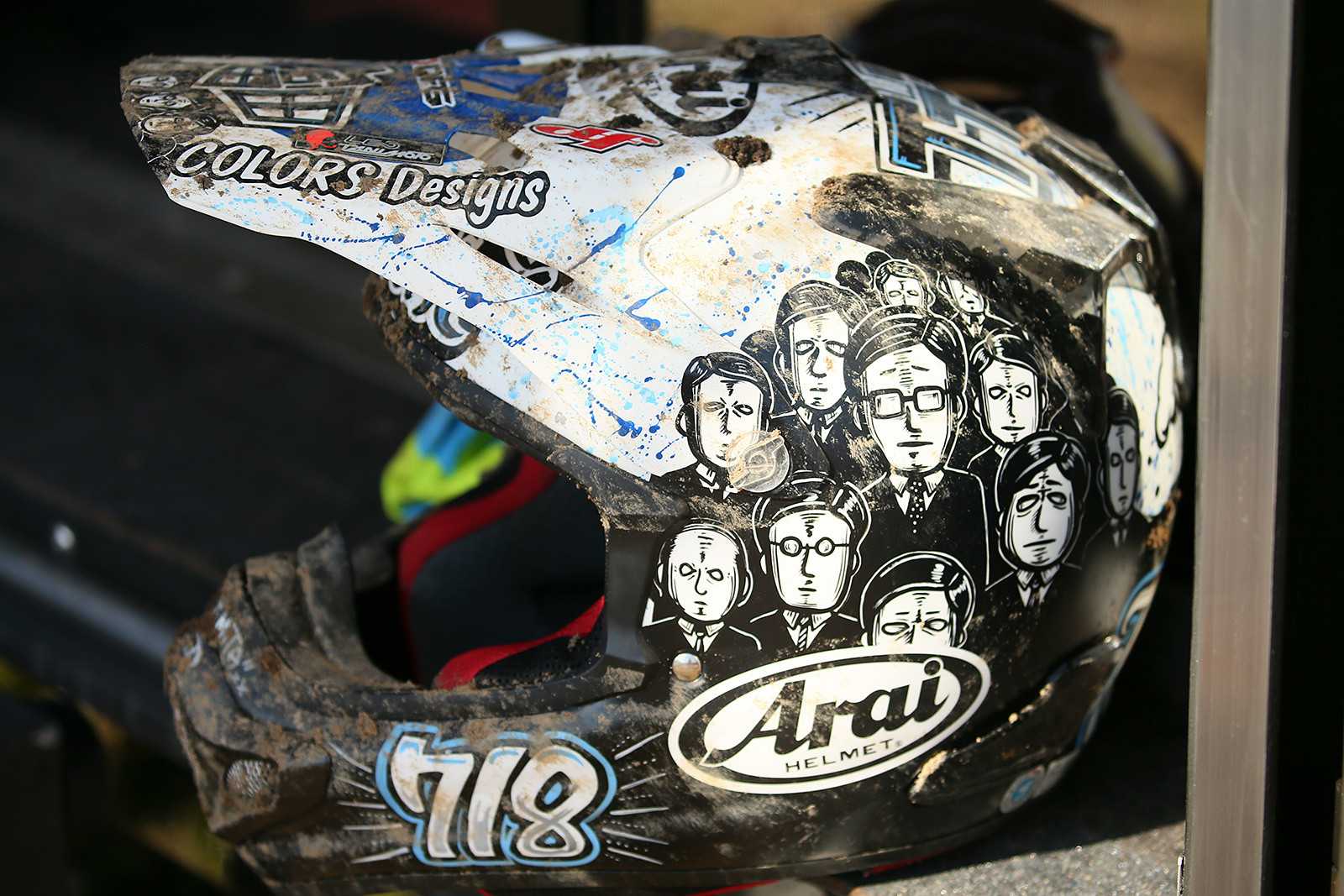 Toshiki Tomita always has some really awesome custom helmet graphics from Colors Designs.