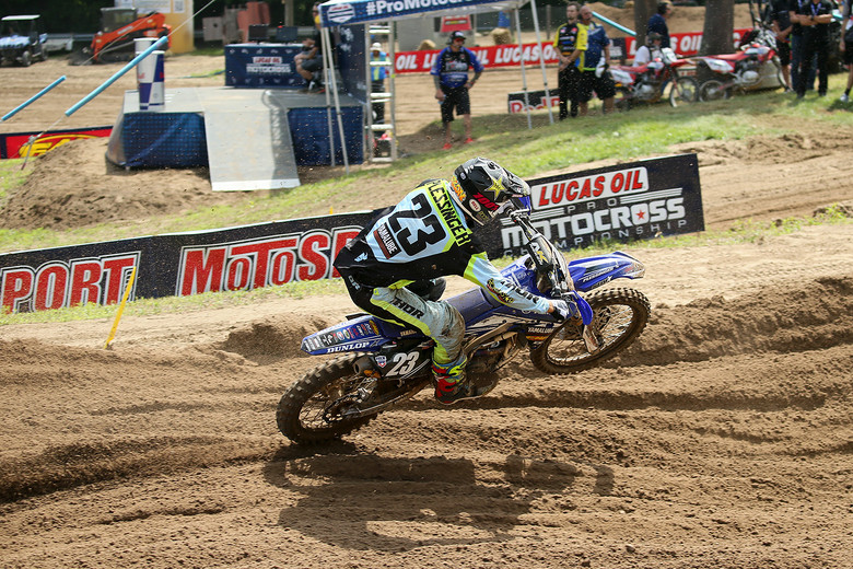 Aaron Plessinger is looking to have a good weekend after struggling at RedBud. He was fifth in qualifying.