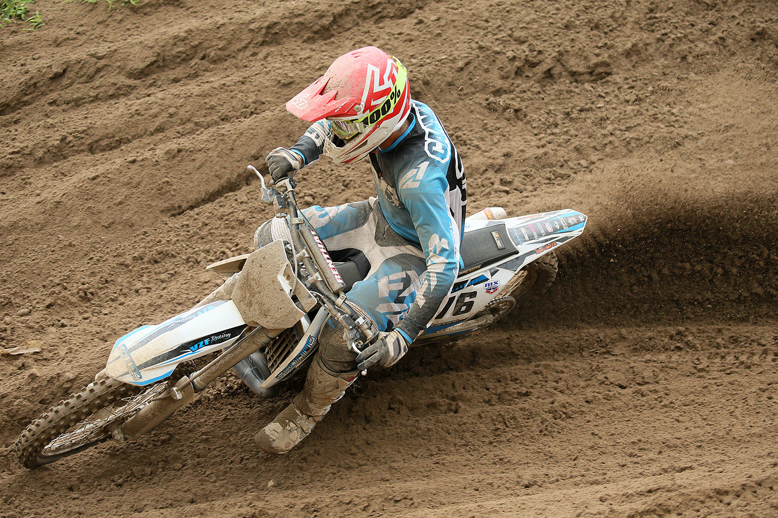 Chris Canning put in two top-20 finishes in the 450 class...on his KTM 250 two-stroke.