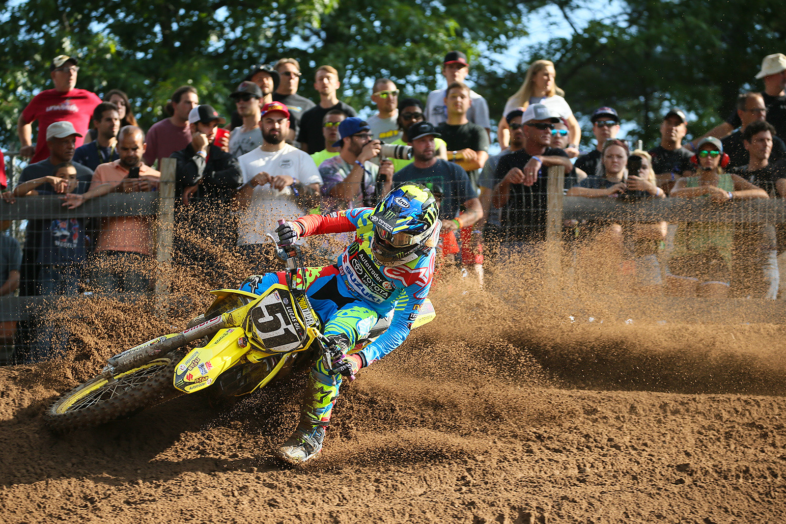 Heartbreaker of the weekend? That likely goes to Justin Barcia, who ran out of gas short of the finish line in moto one while running in fourth spot.