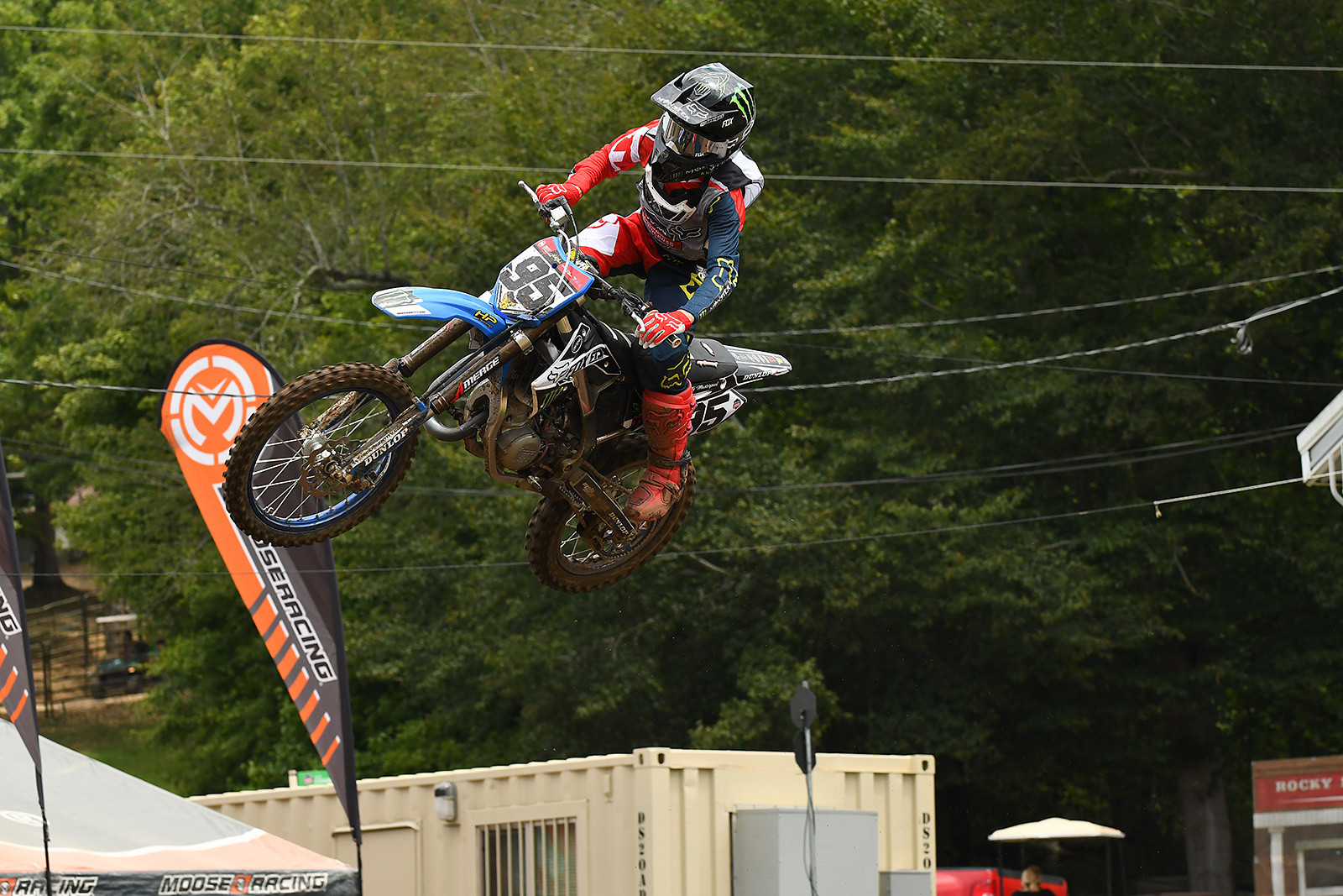Ty Masterpool won a moto and had a come-from-behind second-place finish on the Italian-made TM in his mini classes.