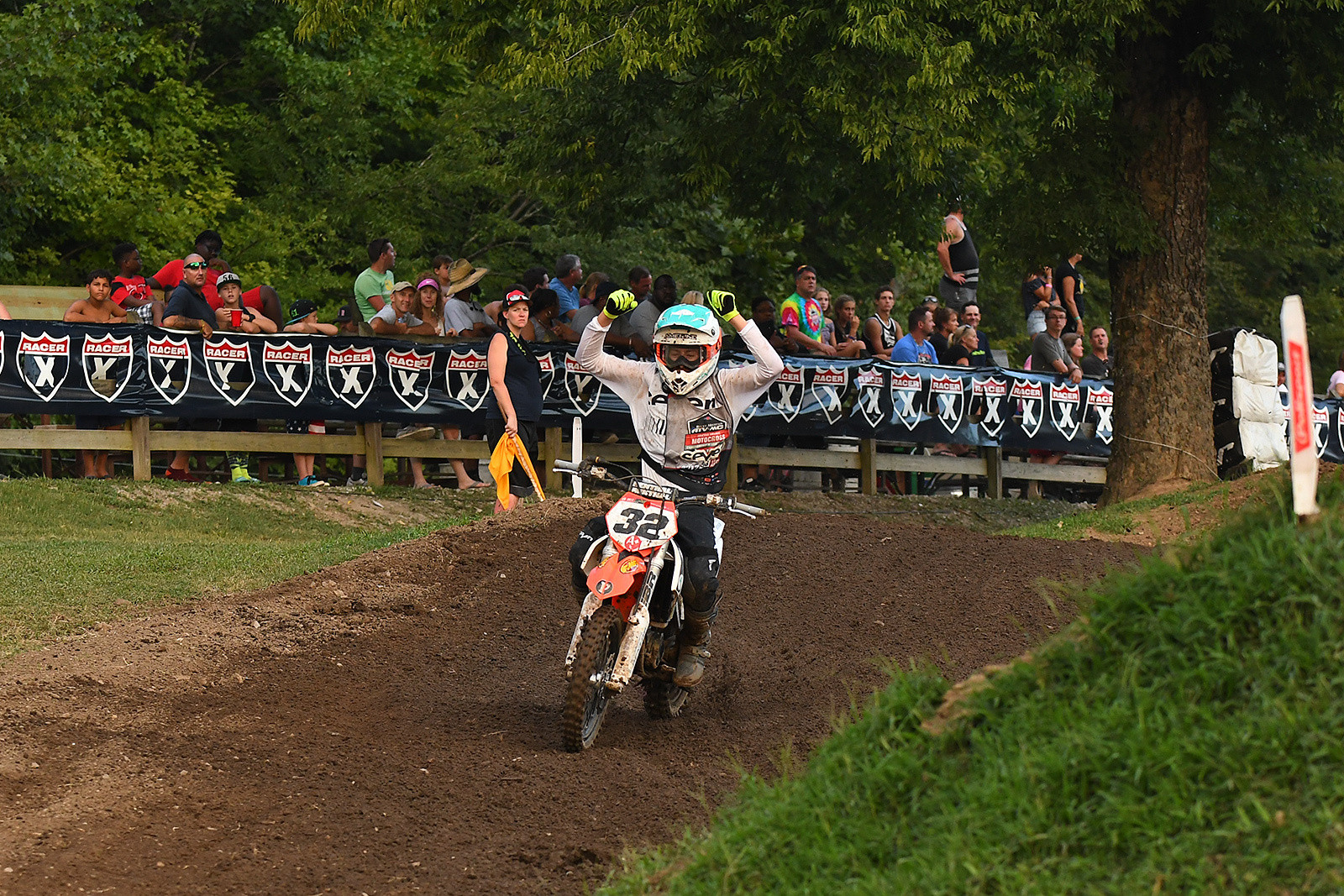 Kaeden Amerine rode a solid moto and then got a gift at the end when Nathan Thrasher lost the lead (and likely the title) with a late-moto crash in the sand whoops.