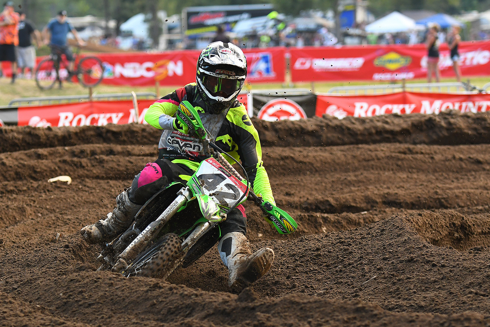 Tennessee's own Nathan Thrasher had the last senior mini moto in the bag until he swapped out in the sand whoops and then caught a haybale and went down. The good news is when he gets on a big bike he's going to be even more competitive.