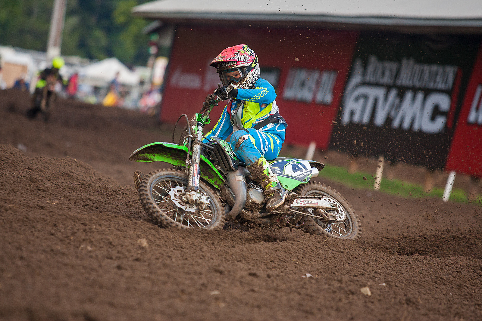 Nicholas Romano is one of the many standout minicycle riders making a fine impression here at the 36th Annual Rocky Mountain ATV/MC AMA Amateur National Motocross Championships at Loretta Lynn's.