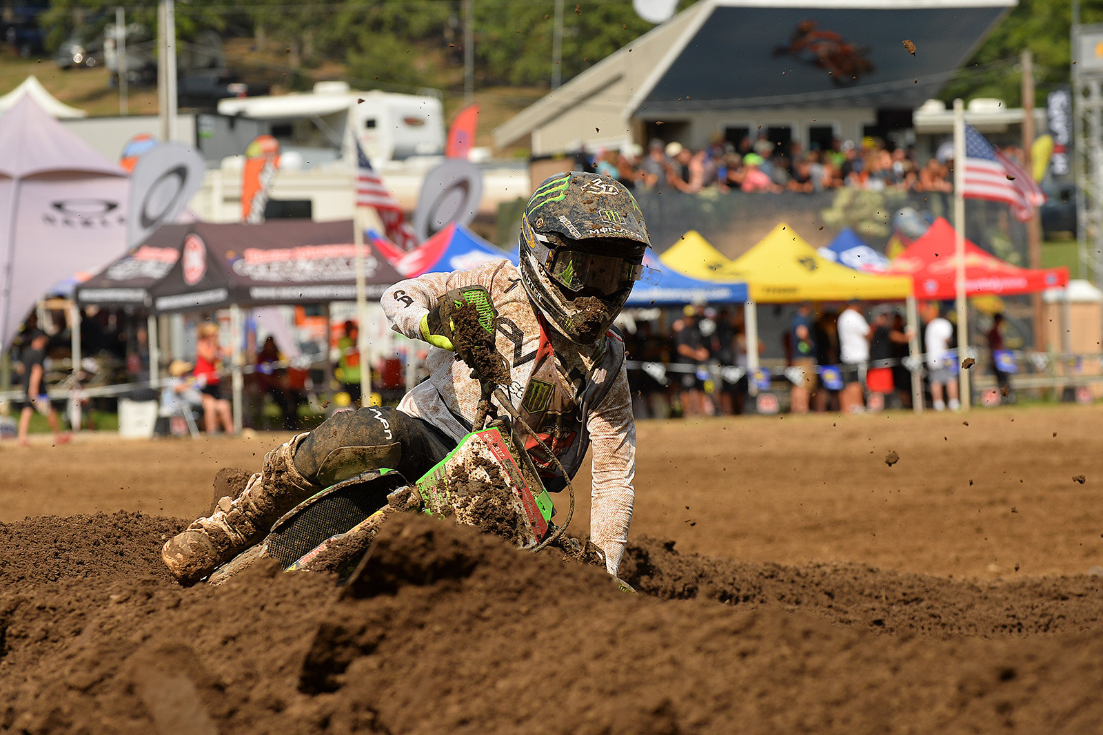 Dylan Schwartz has been a Moto-winner and podium guy in the Supermini classes all week at Loretta Lynn's.