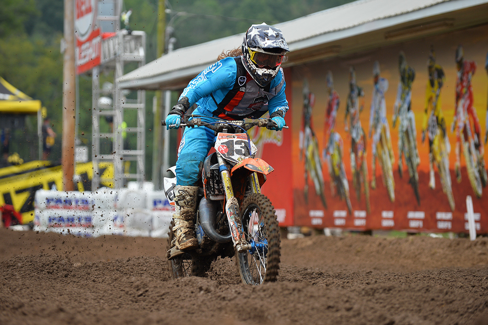 Korie Steede won her first-ever Moto at Loretta Lynn's, taking the win in Moto 3 of the Girls (11-16) class.