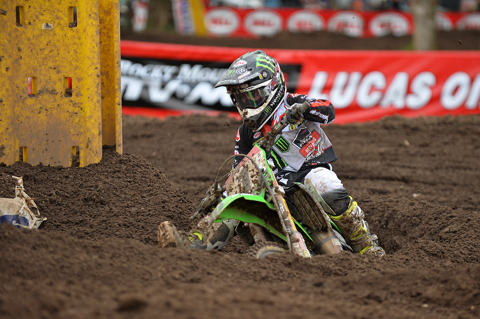 After crashing and suffering a mechanical issue, Kawasaki Team Green's Jett Reynolds was able to locked down the 85 (9-12) class championship—his ninth consecutive Loretta Lynn's title.