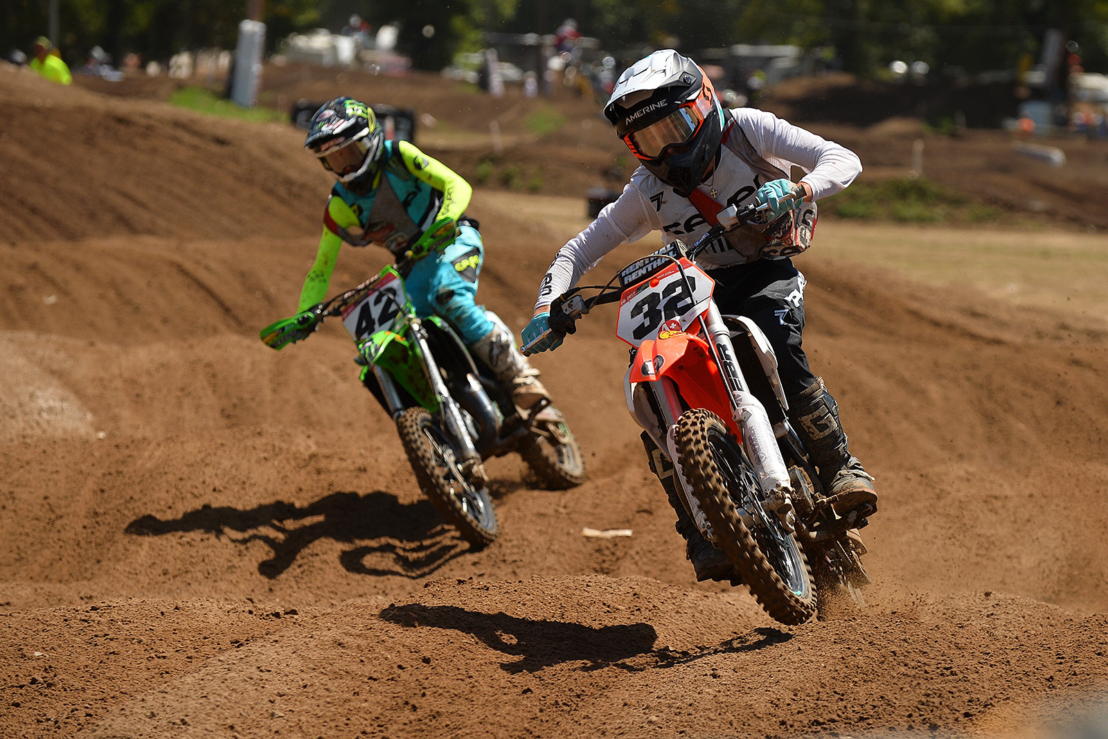 The minicycle classes served up some of the best racing of the week at Loretta Lynn's.