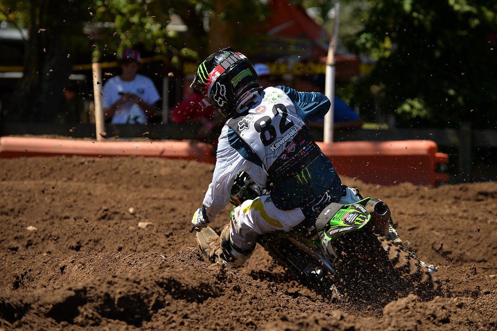 Kawasaki Team Green's Garrett Marchbanks was a force to be reckoned with all week long at Loretta Lynn's.