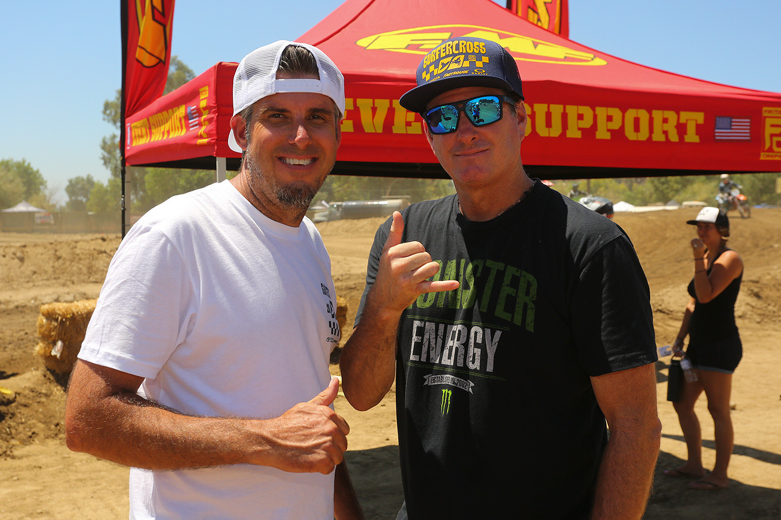 Jeremy Albrecht (left) has always been the driving force on the moto side, and this was what...the 19th edition of this event? Cameron Steele was the announcer for the action.