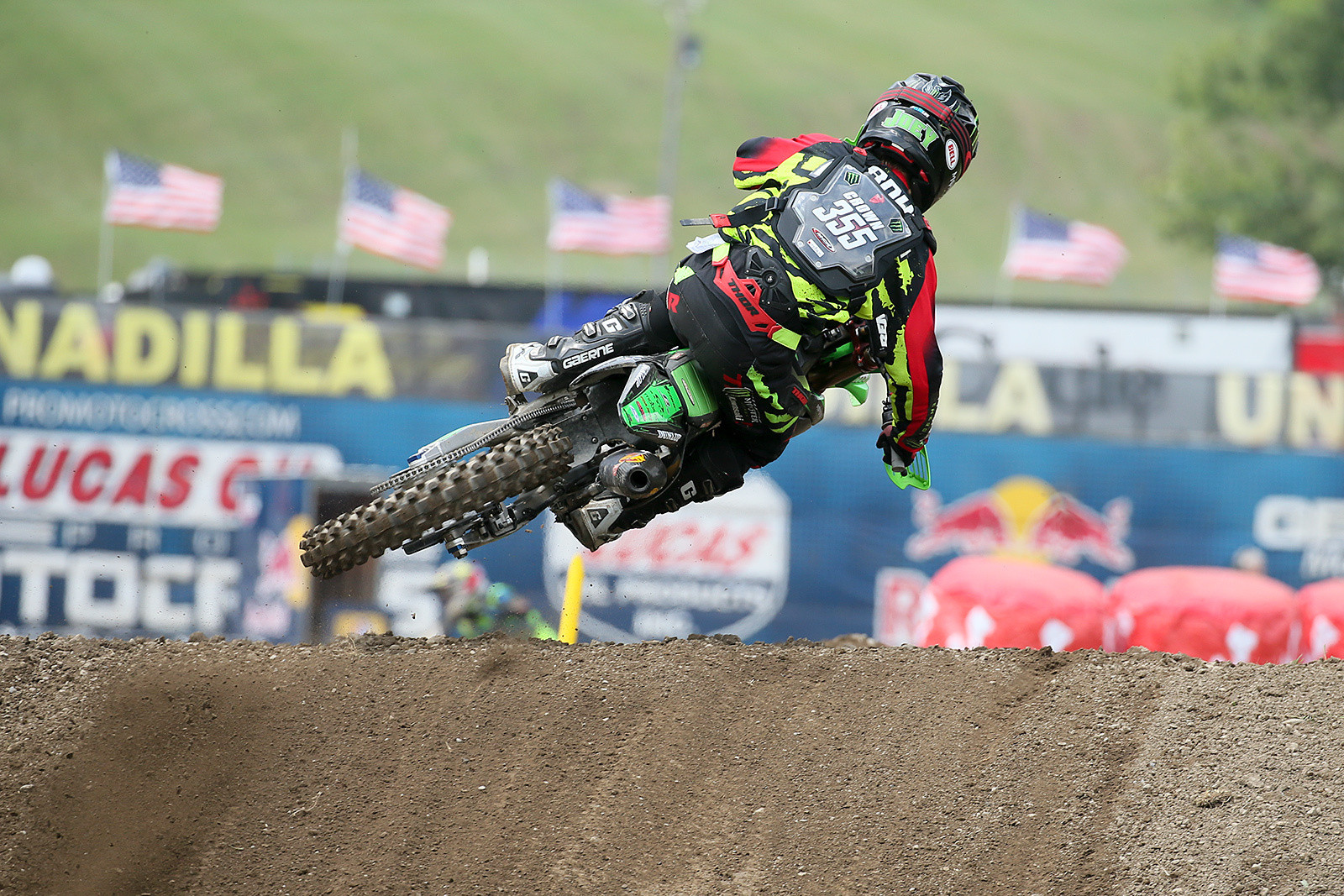 Joey Crown was in the top 20 in both his motos for his pro debut.