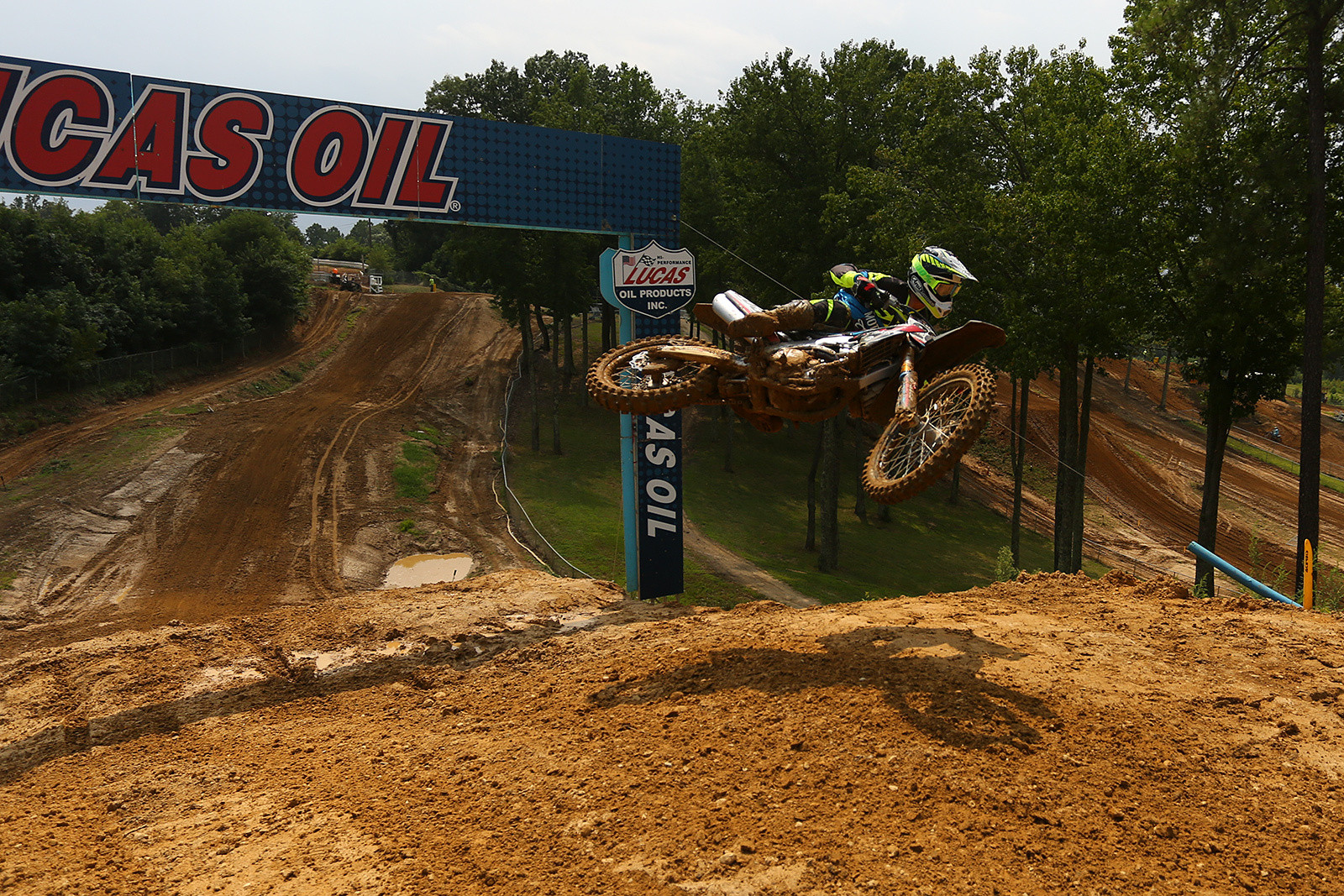 The Henry Hill section at Budds Creek got a little modification this year. Instead of being a big peaked jump, there was actually a small pre-jump to get the riders over the top. Tony Archer demonstrates.