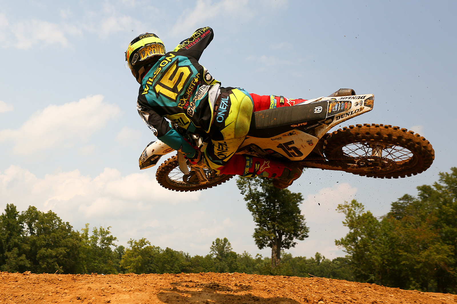 Dean Wilson got a little contorted over the top of Henry Hill, too.
