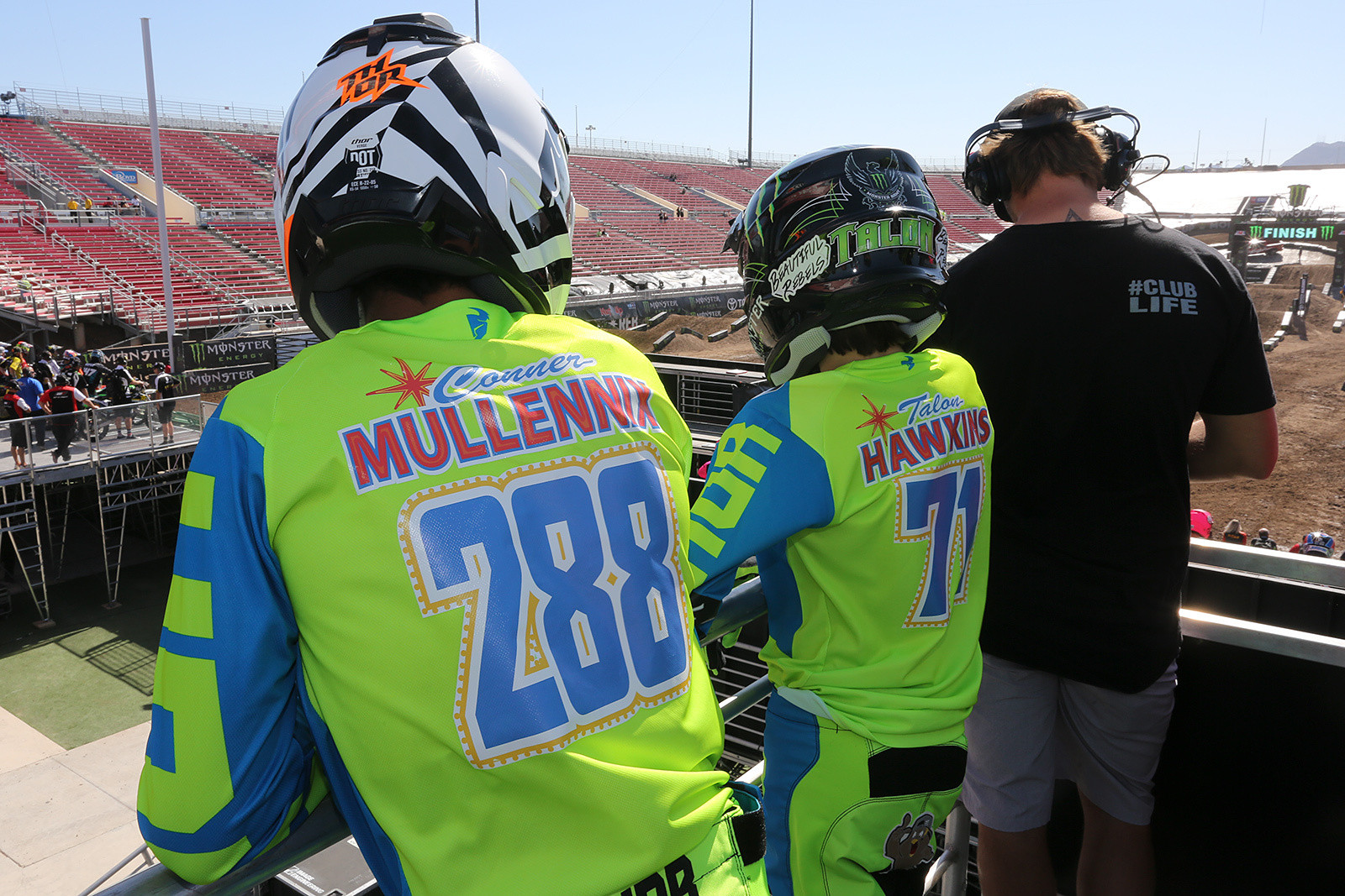 Thor did up cool Vegas-themed names and numbers for their amateur riders.