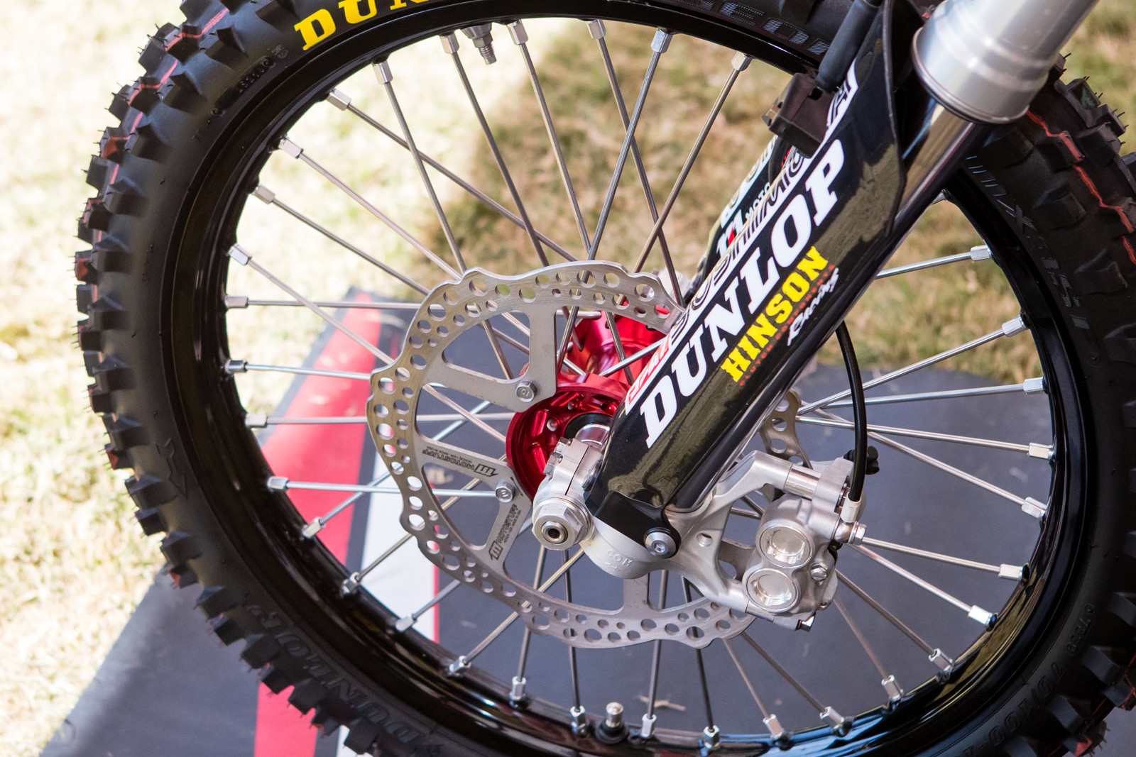WP forks and Brembo brakes up front.