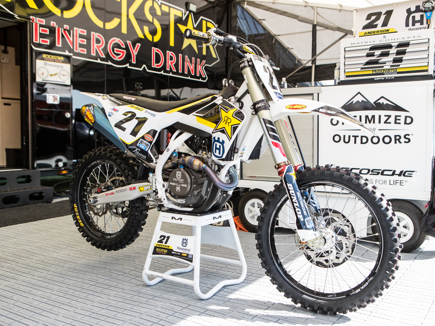 Jason however is on the updated machine. Both the KTM and Husqvarna will have new bodywork come A1.