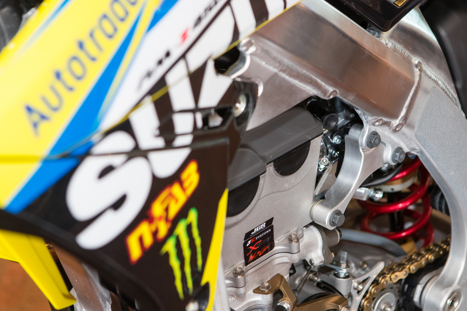 JGR's engine hangers are thicker but thinner in proportions to the stock units.