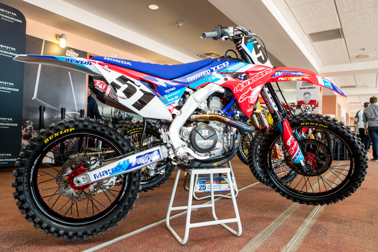 Justin Barcia's new CRF450R fits his style, wild!