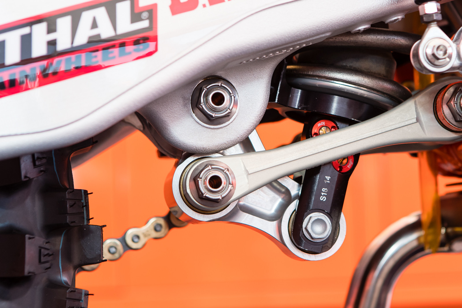 The new shock also has a new feature, with high and low-speed rebound adjusters.