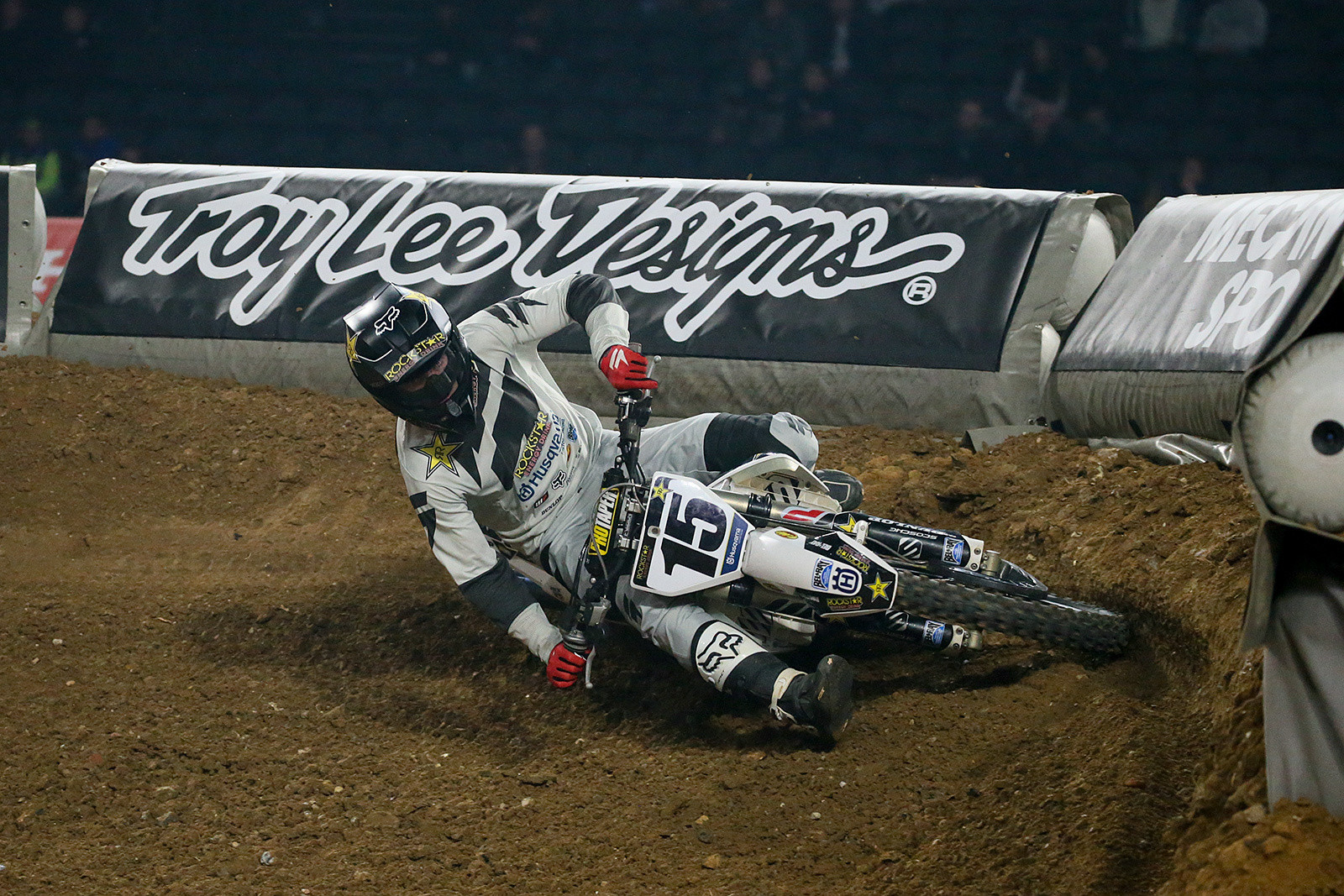 A couple of the berms at the U Arena were no joke. Check out the lean angle on Dean Wilson here.