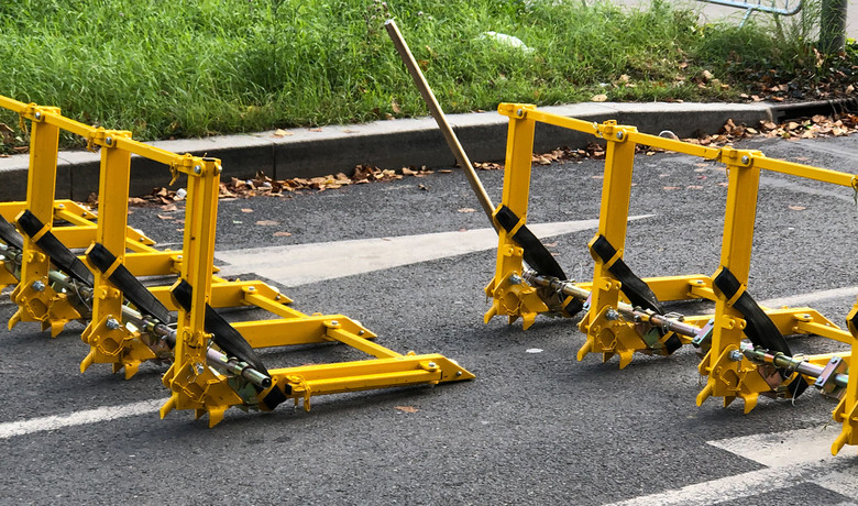 These portable roadblocks were also interesting. They look like they'd be pretty effective at stopping vehicles.