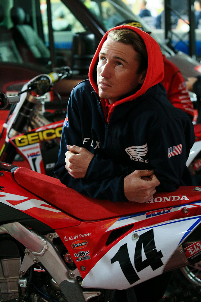 The bike Cole was on was his usual Team Honda HRC race bike, so he was well-familiar with it.