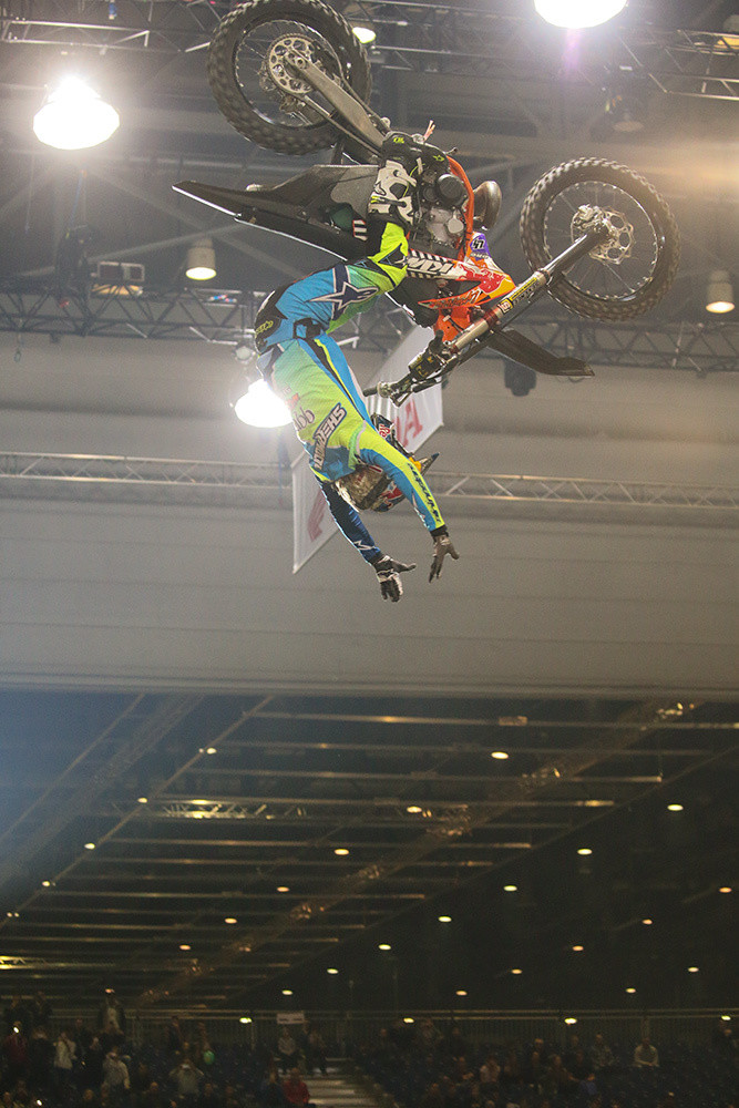 "A ""simple"" double backflip? Nah...Levi Sherwood threw in the no-hander to spice it up. Nicely done."