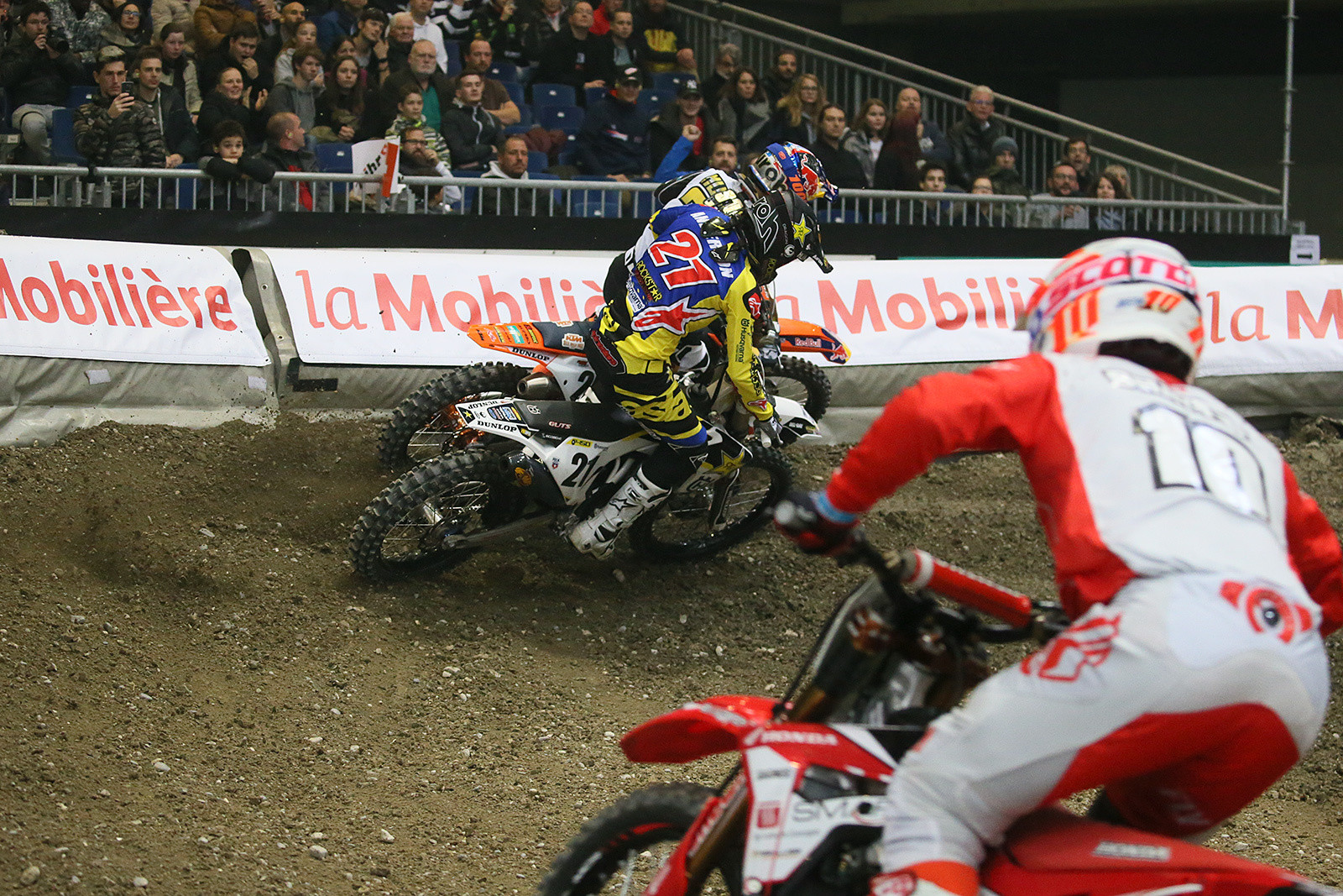 Jason Anderson was racing Marvin hard, but clean.