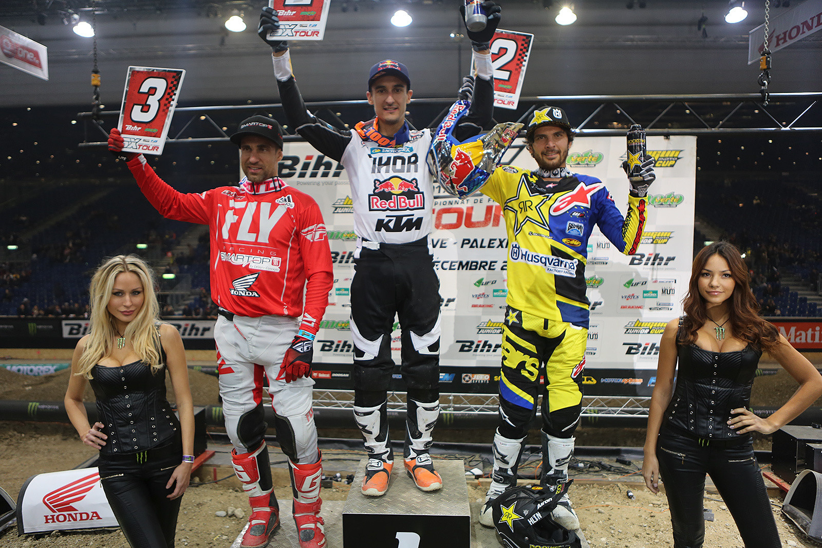 Night one goes to Marvin Musquin, with Jason Anderson and Justin Brayton rounding out the podium.