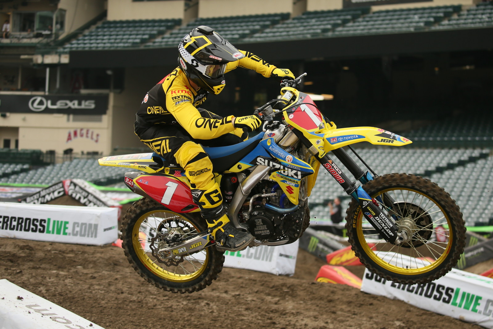 Justin Hill was fast on his RMZ250 in free practice.