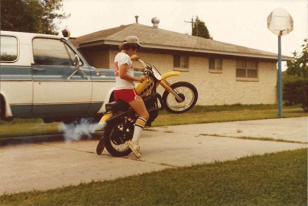 Circa 1978  Serious style goin' on!