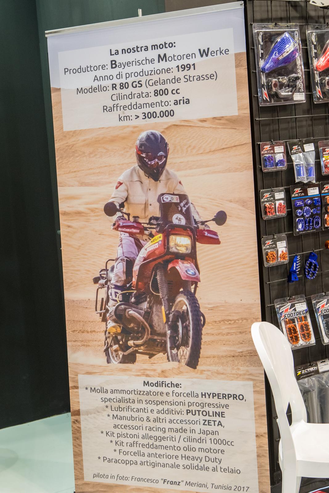 Zeta and the Long Haul Bike - 2017 EICMA - Milan Motorcycle