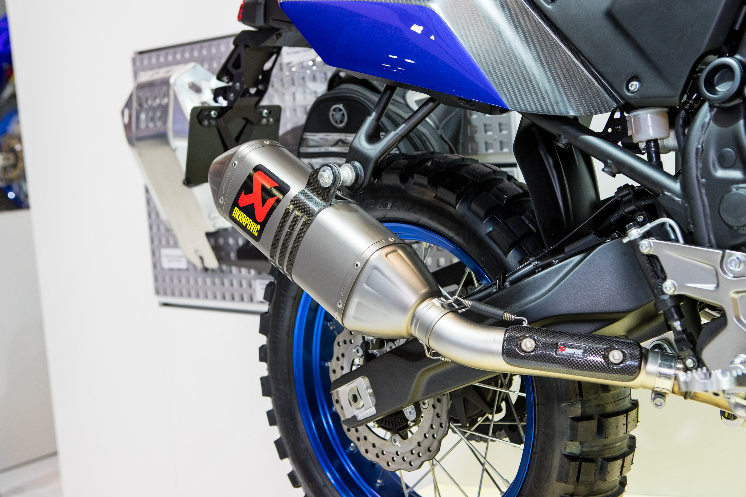 Featuring an Akrapovic rally inspired exhaust system and mounting point.