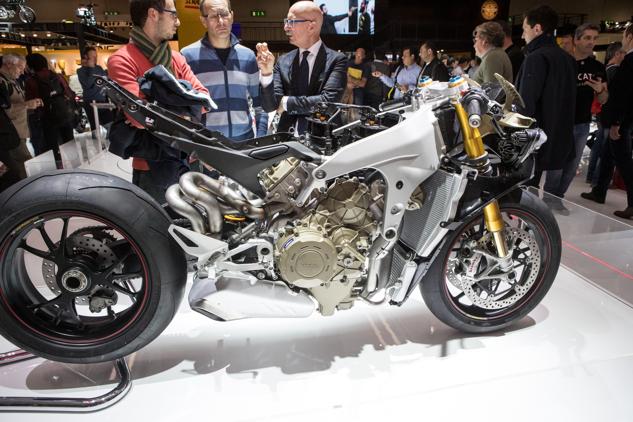 The stripped down Ducati V4 Panigale.