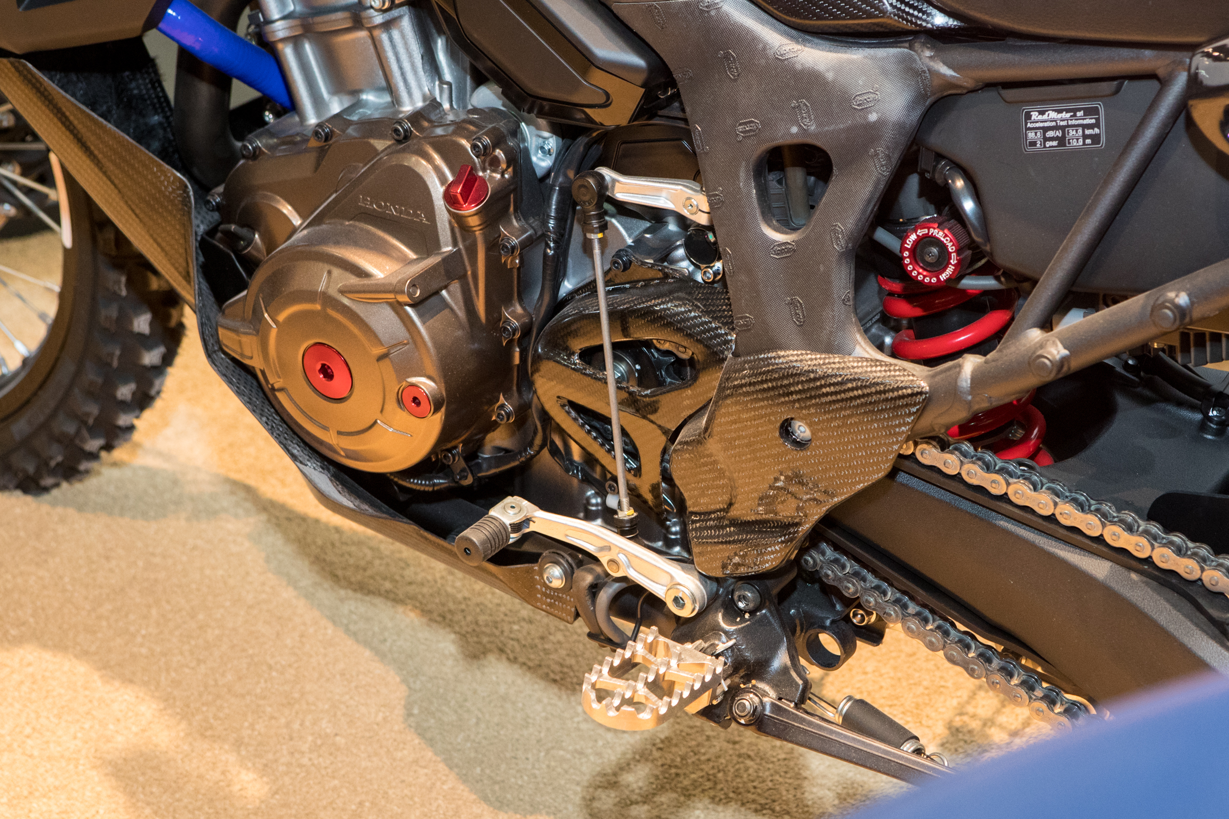 Off-road pegs and easier to use shifter.