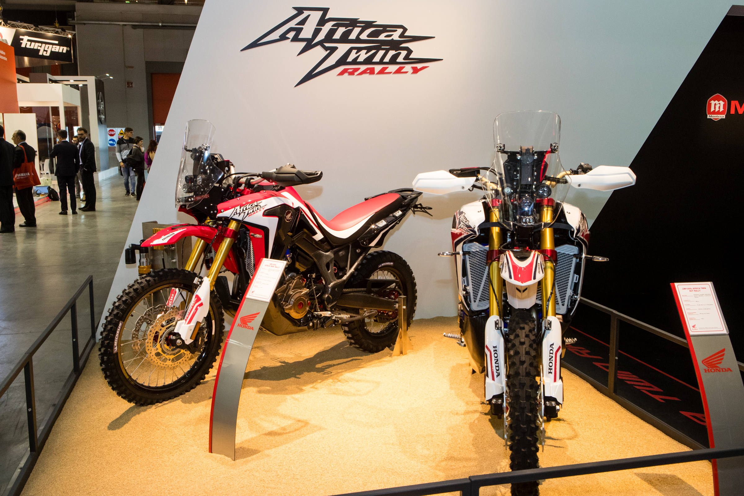 Honda's Italian importer, RedMoto, has some serious influence. They're allowed to modify their incoming bikes, adding a CRF450R and CRF250R enduro and Supermoto models to their range and even this super unique CRF1000L Africa Twin Rally model.