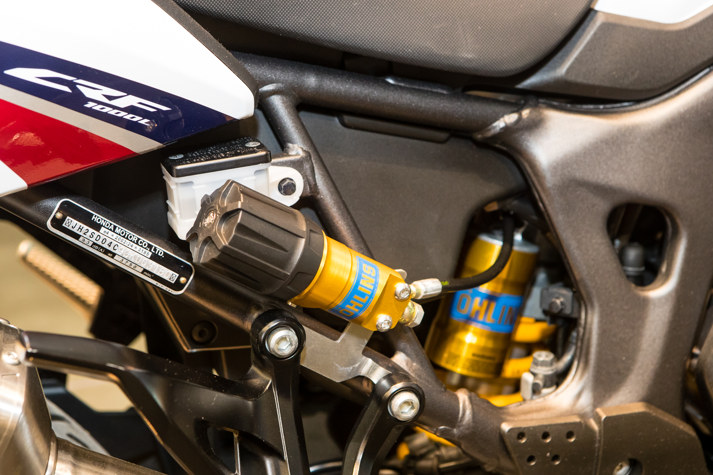 Including a new shock with an easy to adjust preload system, when adding a passenger or saddle bags this makes adjustments quick and simple.