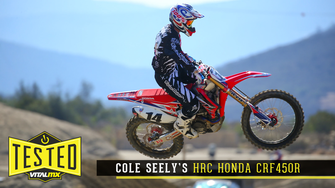 Tested Cole Seelys Hrc Honda Crf450r Motocross Videos Vital Mx