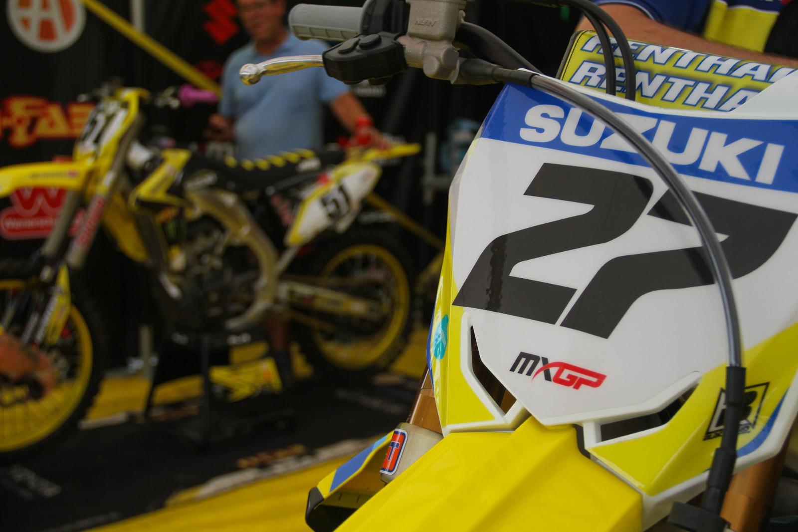 JGR Autotrader / Suzuki World MXGP Pits - ayearinmx - Motocross Pictures - Vital MX