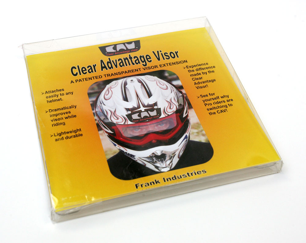 The Frank Industries Clear Advantage Visor - BrownDogWilson - Motocross Pictures - Vital MX