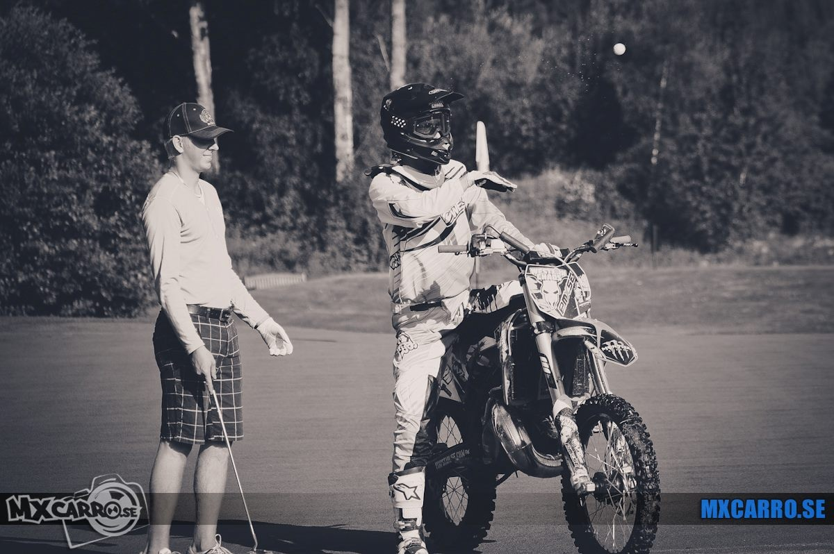 Motocross on golf course in Sweden - mxcarro