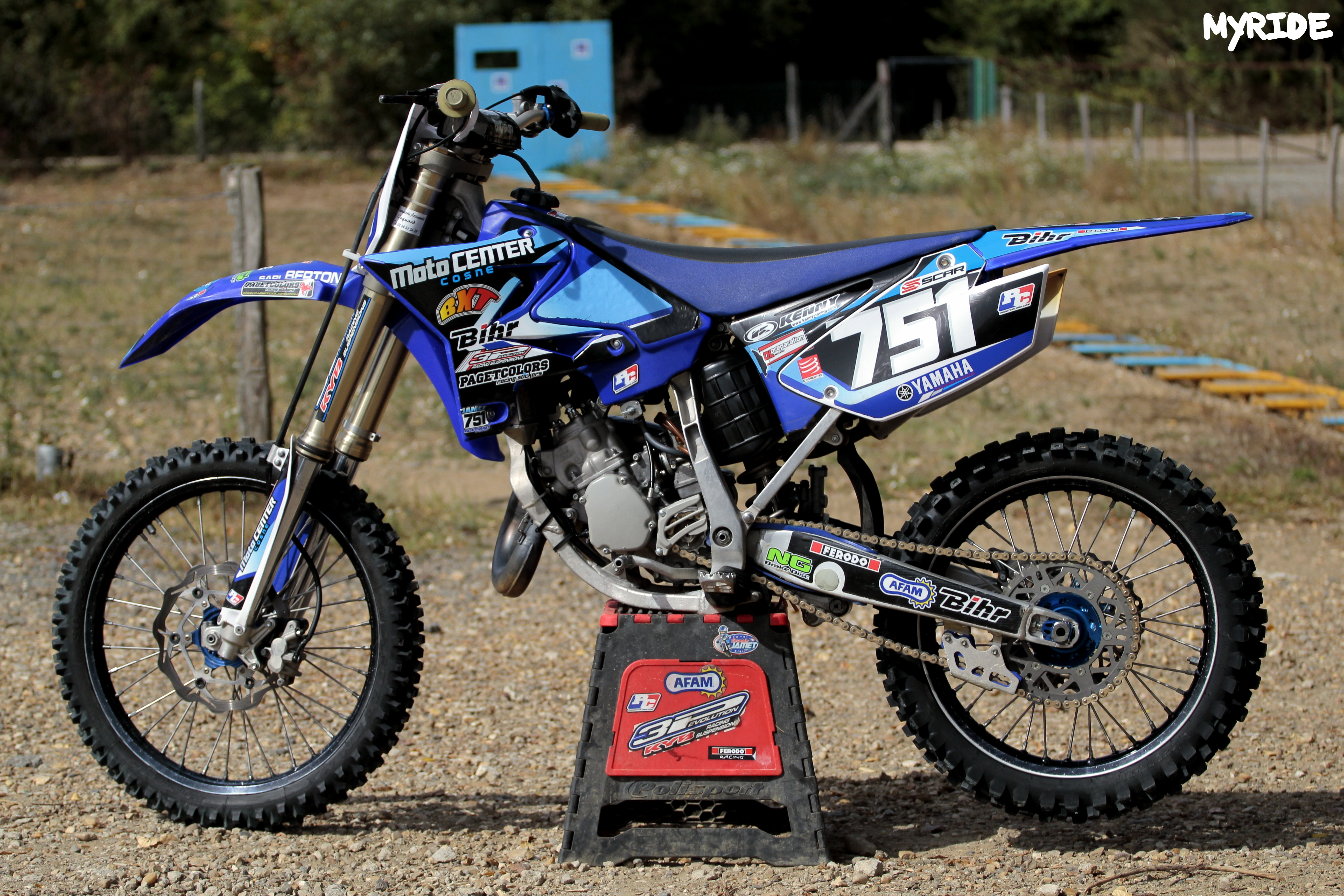 yamaha 125 yz 2012 g jamet myridephotography 39 s bike. Black Bedroom Furniture Sets. Home Design Ideas